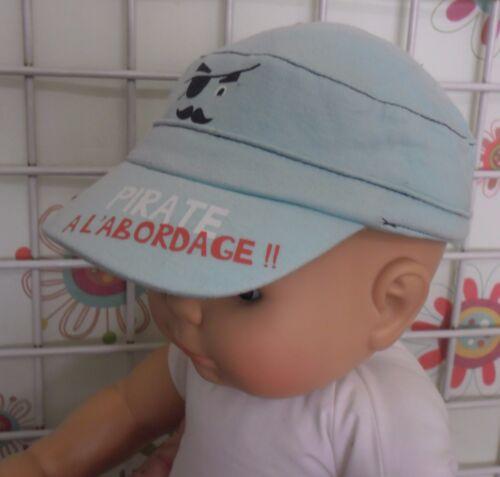 casquette de soleil garçon 1//3 mois 41 cm