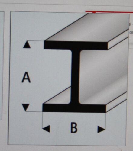 "MAQUETT 415-56//3 White Styrene H-column 4mm x 4mm 0.156/""x 0.156/"" x 330mm X5"