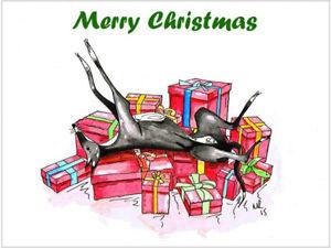 Greyhound lurcher whippet dog italian xmas christmas cards various image is loading greyhound lurcher whippet dog italian xmas christmas cards m4hsunfo