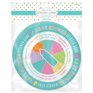 6 X Baby Shower Spinner Game Party Games Unisex Baby Shower Fun