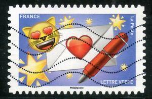 France Autoadhesif Oblitere N° 1561 Emoji / Emotions / Courrier Du Coeur Pour Effacer L'Ennui Et éTancher La Soif