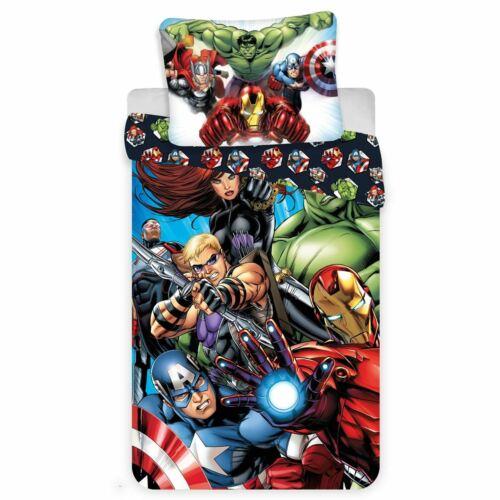 Marvel Avengers 100/% Baumwolle Bettwäsche Set Neu
