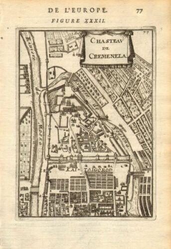 Russia Kremlin ?????? MALLET 1683 map MOSCOW ?????? Chasteau de Cremenela