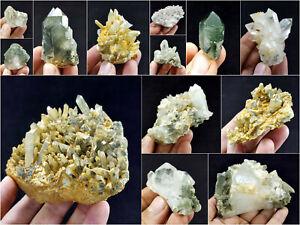 Natural-Stunning-Lot-of-Chlorite-Quartz-Crystals-Specimens-Pakistan-14Pcs-1-8kg