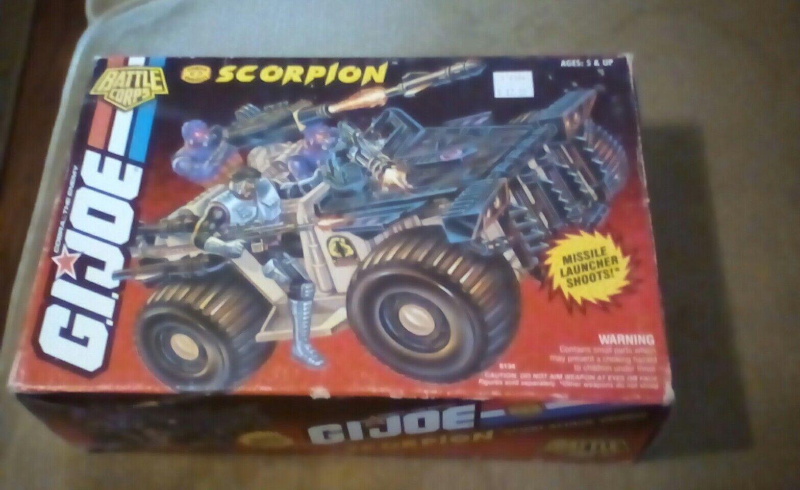 Vintage gijoe vehicle battle corps scorpion 1993 new in box.