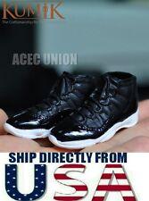 "KUMIK 1/6 Scale Sports Sneaker Shoes BLACK For 12"" Male Figure - U.S.A. SELLER"