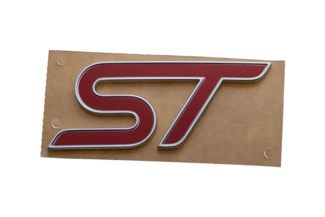NEW OEM 2013 Ford Focus St Tailgate Emblem or Badge Logo Red
