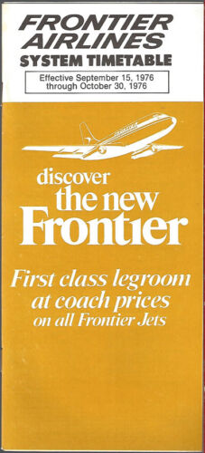 Frontier Airlines system timetable 91576 7125
