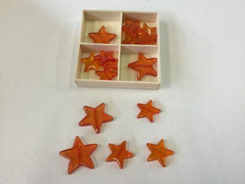 Decorazione Stelle Arancione impedirti ALBERO Tenda DEKO anche per appendere Acrilico stelle