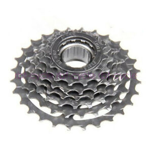 DNP MTB Bicycle 7 Speed Screw On Freewheel 13-28T Compatible for Shimano Sram