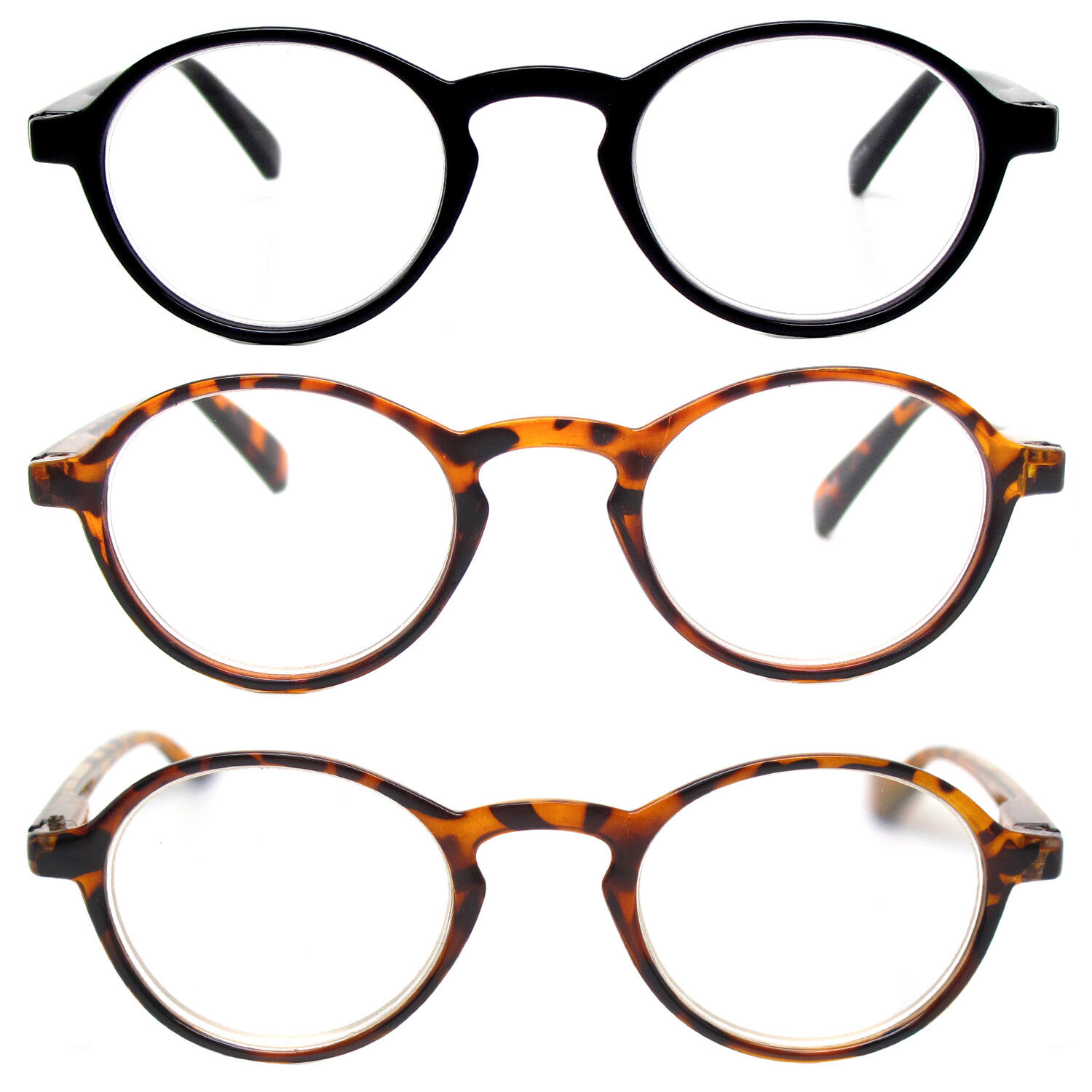 3eb25e77cc9be Retro Reading Glasses Classic Vintage Style Small Round Frame Men Women  Readers