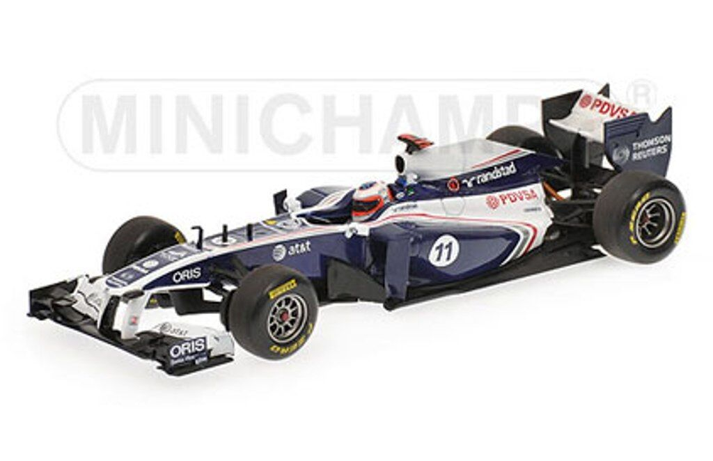 Minichamps 410 110011 Williams FW33  modèle F1 Voiture de course BARRICHELLO 2011 1 43  bon shopping