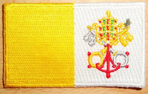 VATICAN CITY Flag Embroidered PATCH Badge