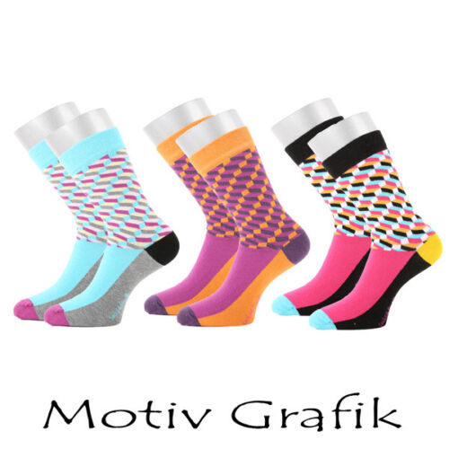"/""Life Needs Color/"" Grafik  bunte Strümpfe Zwerge Pilze Motiv Socken Pique´-Bund"
