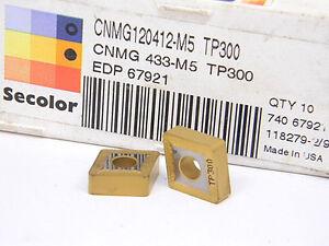 NEW-10PCS-SECO-CNMG-433-M5-GRADE-TP300-CARBIDE-INSERTS