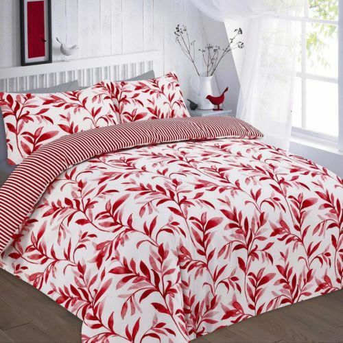 Reversible Duvet Cover Set With Pillowcases Size Single Double King Super Ellie