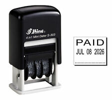 Shiny S303 Rubber Date Stamp Paid Black Ink S 303
