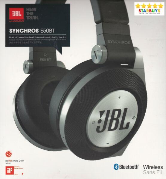 Zelfbewust Jbl Synchros E50bt Wireless Bluetooth Over-ear Headphones With Hands Free Mic Mild En Mellow