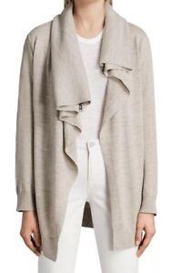 Wool £128 Allsaints Cardigan Bnwt Marl Dahlia mist Drape Merino sz Medium tSnZ4qw