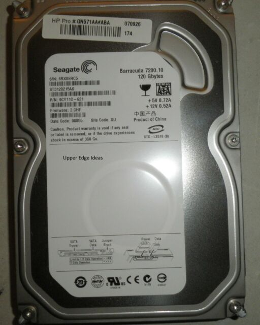 Seagate Barracuda SATA 120gb Hard Drive HDD 3.5 ST3120215as