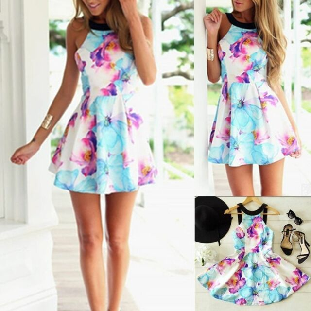 Sexy Hot Womens Summer Casual Sleeveless Party Evening Cocktail Short Mini Dress