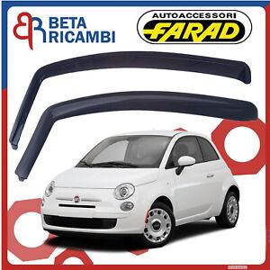 Deflettori Aria Per Fiat 500 Antivento Antiturbo colore Fumè Farad