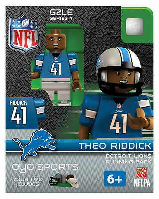 Theo Riddick OYO Detriot Lions NFL Football Figure NEW G2