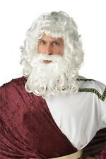 Zeus God Wig & Beard Men Costume or Santa Claus Wig