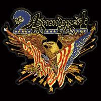Eagle Guns Flags 2nd Amendment Iron On 6 Inch Biker Nra Patch