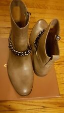 COACH ADELLA BURNISH CALF WOMEN ANKLE BOOTS WITH CHAIN