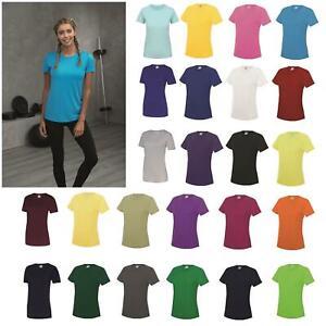 AWDis-Just-Cool-Girlie-Cool-T-Shirt-Damen-Polyester-Fitnessstudio-Sport-Running-Tee-8-18