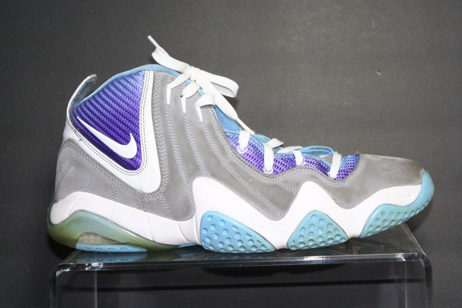 Nike Zoom Fun Police Basketball 2008 Athletic Multi Purple Grey Men 14 Hip Rare