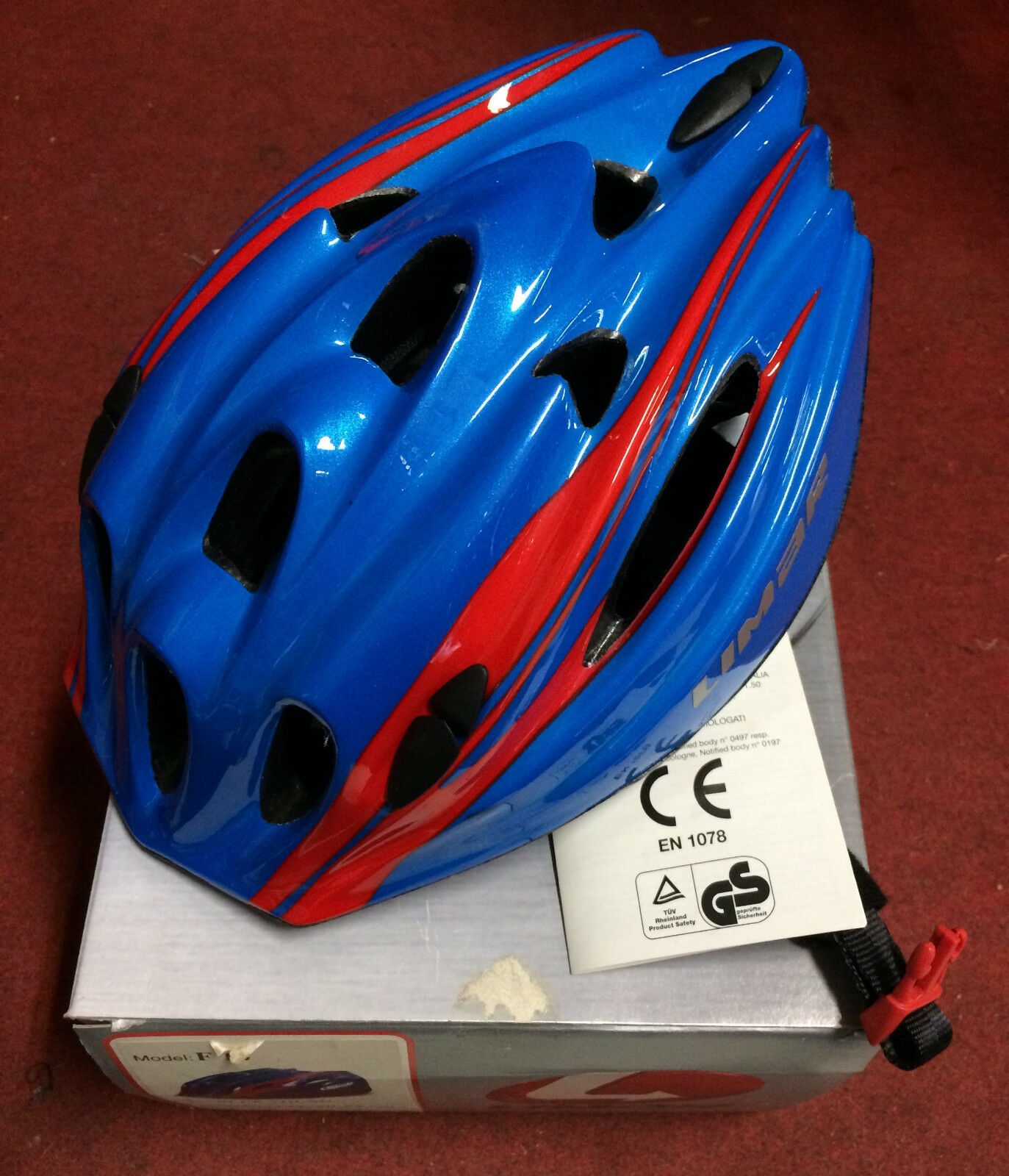 Casco bici corsa Limar F14 road bike helmet Unisize 50-55 cm bluee young