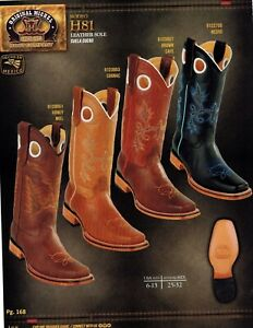 f908310ad07 Details about Original Michel King Exotic Men's H81 Rodeo Leather Cowboy  Western Boots