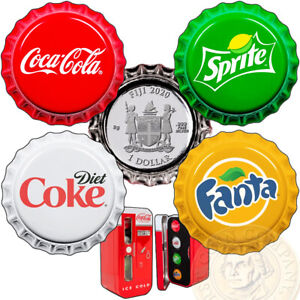 Fiji-COCA-COLA-FANTA-SPRITE-COKE-DIET-Silver-Coin-Set-1-Bottle-Cap-2020-Vending