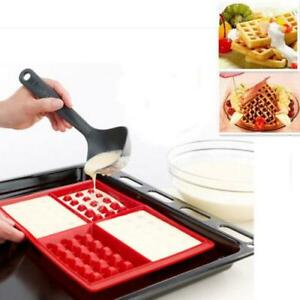 4-Safety-Cavity-Waffles-Cake-Chocolate-Pan-Silicone-Mold-Baking-Mould-Kitchen-D