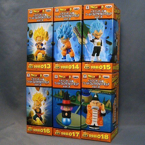 Dragon Ball Super WCF World Collectable Figure Vol.3 6 Complete Set BANPRESTO