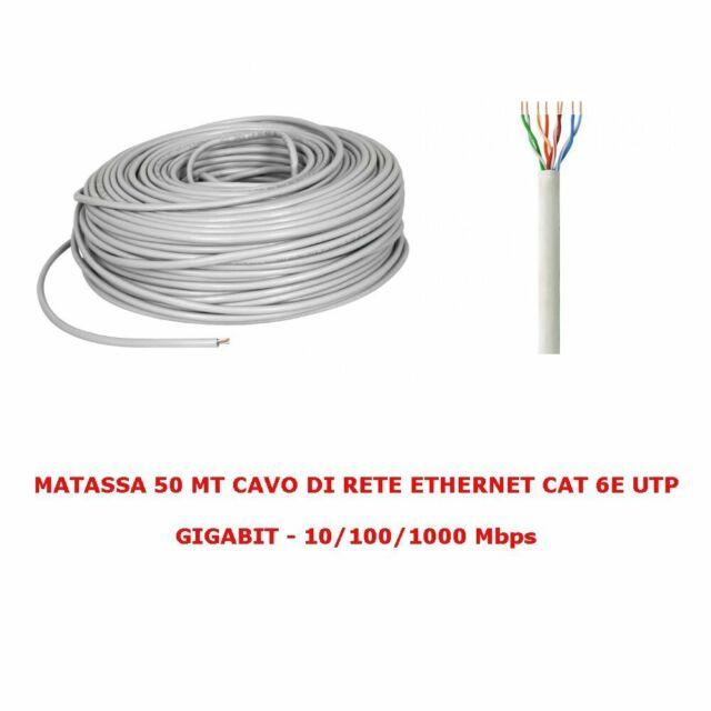 50 MT MATASSA CAVO DI RETE LAN UTP CAT 5E
