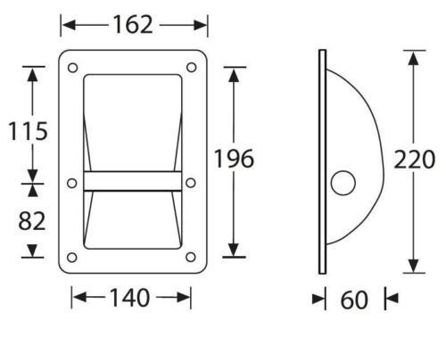 12 x Schalengriff 220x162 mm Adam Hall 3402 Tragegriff Boxengriff Boxengriffe