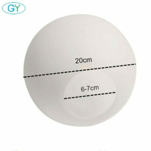 Weiß Glas Lampenschirm,Milky Kugel Lampenschirme Fassung Lampe,D10cm D12cm D15cm