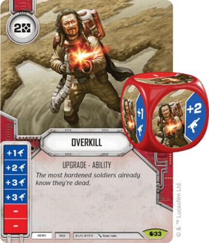 x1 Overkill 33 Rare Star Wars Destiny Spirit of Rebellion M//NM