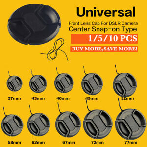 1-5-10PCS-Center-pinch-snap-on-Front-Lens-Cap-Cover-for-Canon-Nikon-Sony-Lot