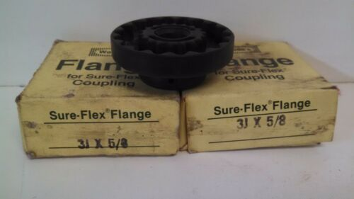 T.B 2 NEW OLD STOCK WOODS FLANGE SURE-FLEX COUPLINGS 3J-X-5//8 LOT OF