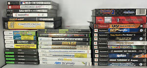 Game CASE ONLY Lot 32 Piece Sega PS2 DS Xbox Wii PS1 GameCube Ps3 360 Display