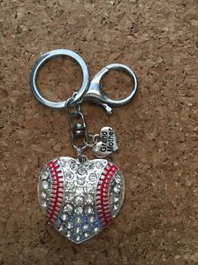 Image is loading Baseball-Heart-Grandmother-Keychain-Baseball-Keychain e8fe5a5c84