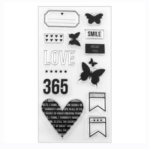 Letters Clear Silicone Stamp Transparent Rubber Stamps Cling DIY Scrapbook Card