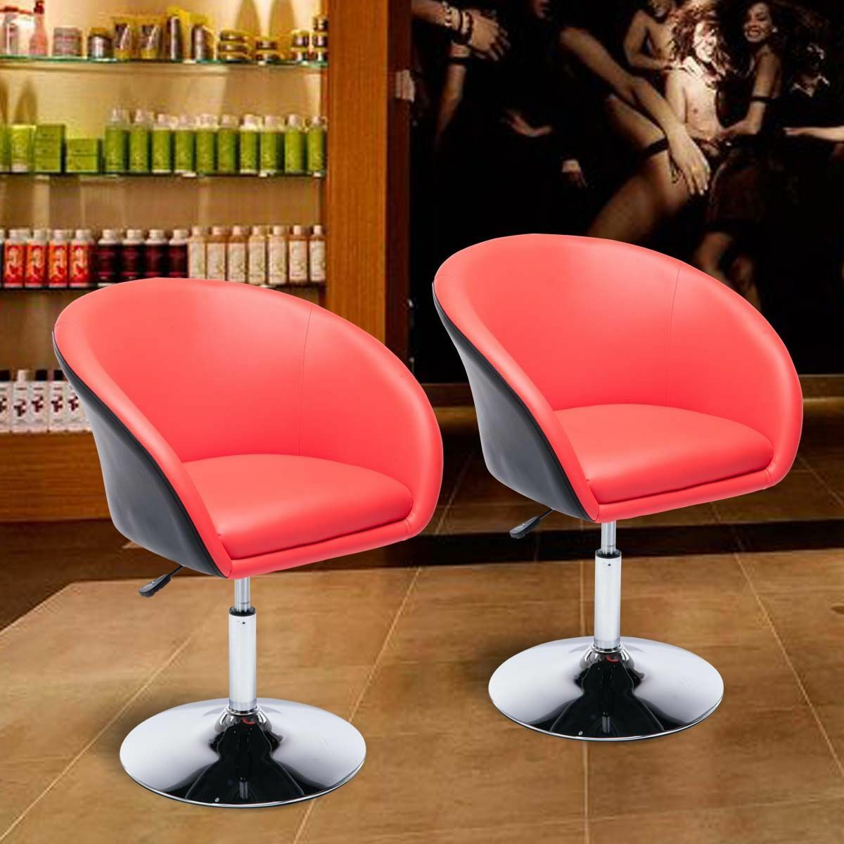 Prime Details About Egg Shaped Barber Salon Chair Tufted Bar Stool Pub Chair Accent Chairs Set Of 2 Interior Design Ideas Inesswwsoteloinfo