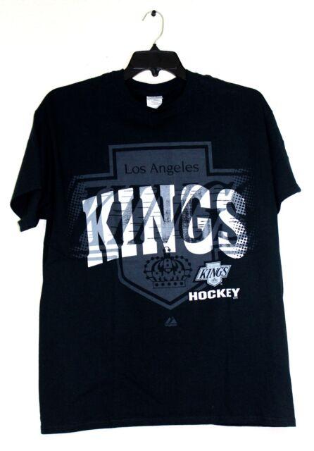 LA Kings Black Logo T-Shirt, Hockey, L, 2XL, 100% Cotton, NHL