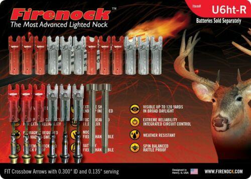 Pro package FIRENOCK Hunting /& Target crossbow lighted nock U6ht-R