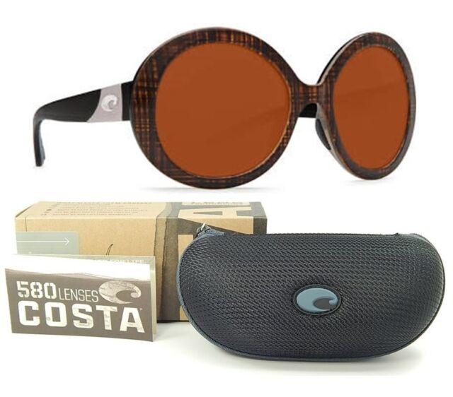 7e42a5023f256 Costa Del Mar Isla Womens Sunglasses Scotch Black Temple Frame Copper 580p  Lens for sale online
